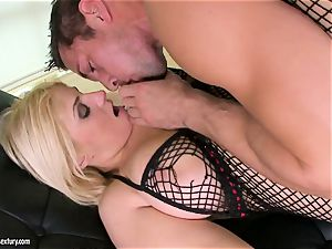 Brooklyn Bailey enjoys the muscled sword working stiff to erupt on her