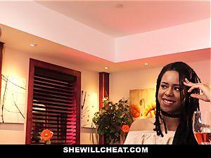 SheWillCheat - cheating wife fucks big black cock in bathroom