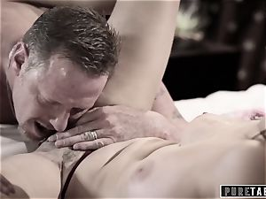 pure TABOO 18yo Ashley Sins Against mother to satiate father