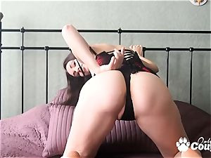 big-chested brunette fuckslut playing on cam