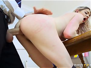 killer college girl Carly Rae gets nailed by a large dicked tutor