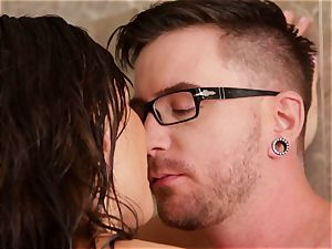 fate Dixon steamy and moist drilling in the bathroom