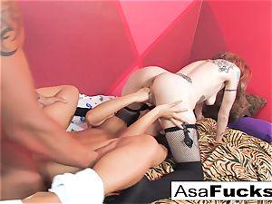 Asa romps a Ninja and a Rocker dame