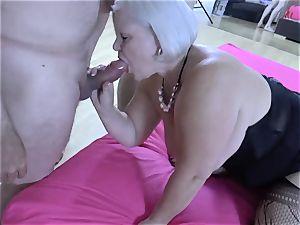 LACEYSTARR - hungry grandma gang-fucked