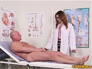 Spex dom CFNM medic inhaling patients fuck-stick