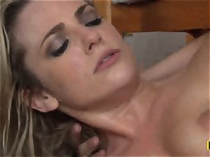 Bailey Blue gets her trimmed snatch slammed with hard-on