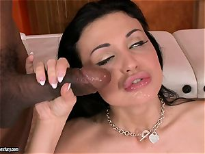 jism thirsting Aletta Ocean desired a load on her gullet after a adorable buttfuck