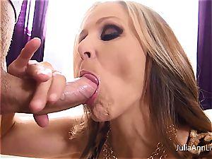 Julia Ann likes cum on her mammories