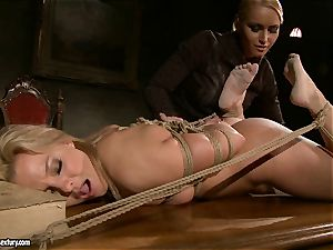 Kathia Nobili like to clipped down her victim with faux-cock