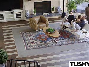 first-ever double invasion For youthful cockslut Natasha