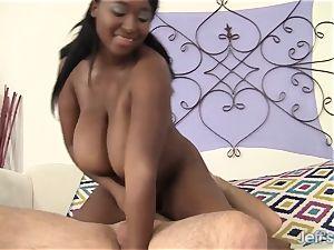 ebony bbw Marie Leone gets smashed