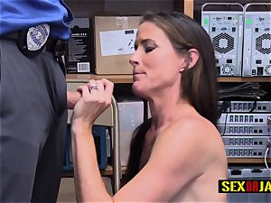 nubile Sofie gets her colon of love banged rock-hard by insane officer