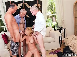 big baps dark-haired amateur bj Frannkie And The group Tag squad A Door To Door Saleswoman