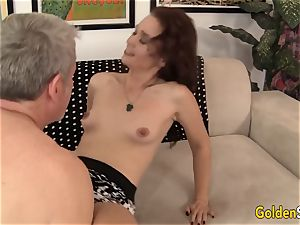 grandmother Sable Renae plowed with thick stiffy