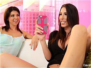 uber-cute Tara ravages her buxomy stepsister Dava