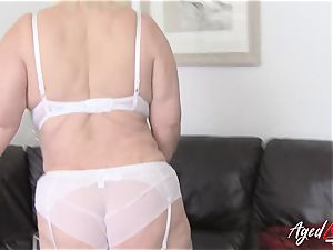 AgedLovE buxom Lacey Starr hardcore and suck off