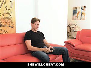 SheWillCheat - steamy wifey With ample Rack loves ebony fuckpole