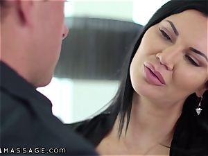 NuruMassage brit cougar Jasmine Jae seduces Cop