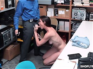 Sofie Marie unloaded nads deep by insane mall cop