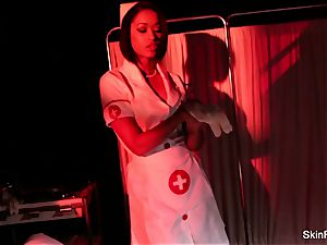 Creepy-Sexy nurse flesh Diamond dances and teases