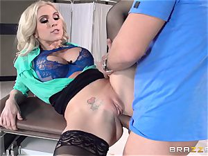 doctor Christie Stevens shows just how anal is done