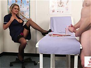 CFNM spycam nurse teaching jerkoff