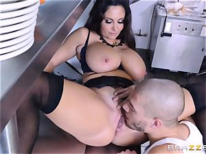 Kitchen inspector Ava Addams takes a chefs wood deep