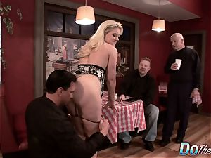 blonde wife bootie penetrated as Cuck witnesses