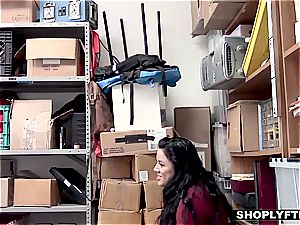 teenager Monica gets caught using a wise shoplifting trick