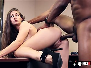 Lusty seductress IR ravaged by dangled chief