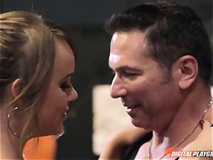 Alexis Adams muff wrinkled in the boxing ring by hefty schlong
