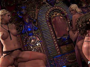 Burlesque lovemaking with Dani and Julia