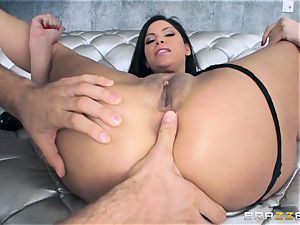 Alexa Nicole gets backside speculum and weenie in her scorching donk